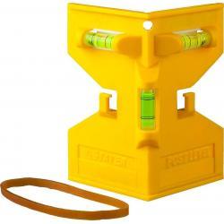 Уровень-угольник Stayer. Post Level, пластмассовый с магнитом, 3 ампулы