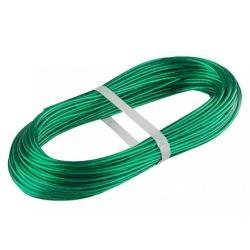 Трос металлополимерный ПР-3.0 (3,0 мм толщина, моток 20 м.п.), зеленый