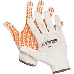 Перчатки трикотажные Stayer. Expert с защитой от скольжения, 10 класс (размер L-XL)