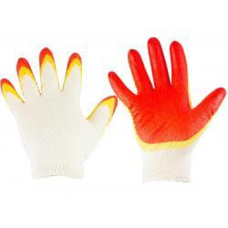 Перчатки трикотажные, с двойным латексным покрытием, размер L