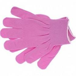 Перчатки нейлон, 13 класс, цвет розовая фуксия, L, артикул 67821