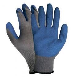 Перчатки нейлоновые, с рифленным латексным покрытием, размер L