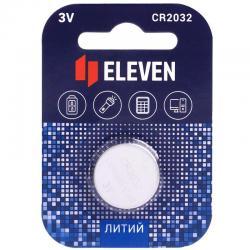 Батарейка Eleven CR2032, литиевая, 3В