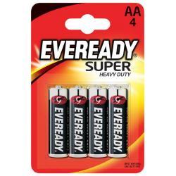 Батарейка Energizer Eveready R6 Super Heavy Duty (АА, 4 штуки)