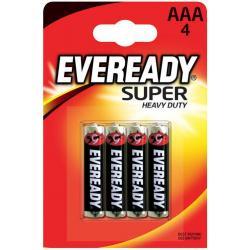 Батарейка Energizer Eveready Super Heavy Duty R03 (ААА, 4 штуки)