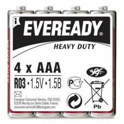 Батарейки Energizer Eveready R03 (ААА, 4 штуки)